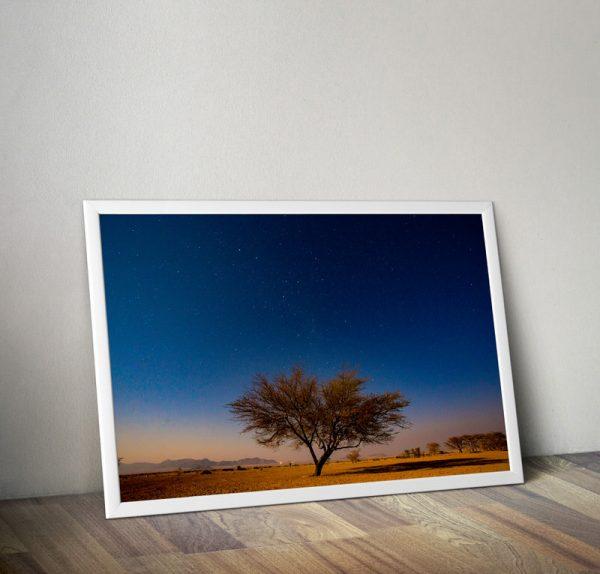 Quadro noite deserto namíbia