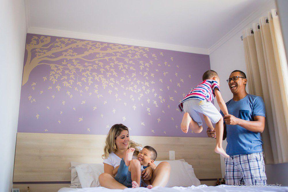 Simone, Edi, Rafa e Guilherme |  Ensaio de Família em Casa