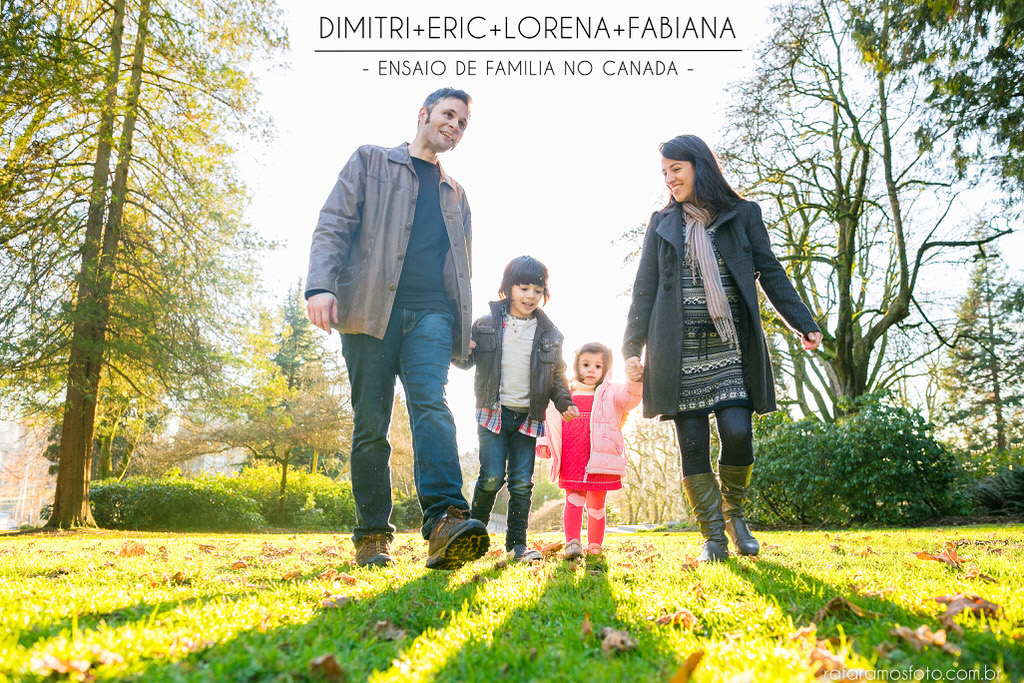 Winter family session Stanley park Vancouver bc