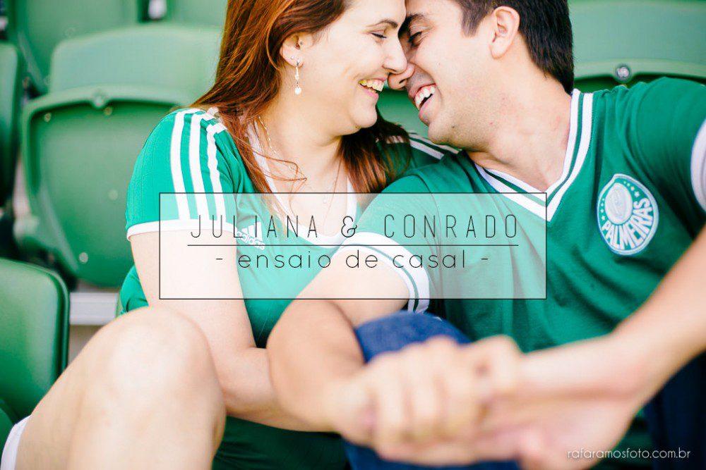 Juliana e Conrado | Ensaio de Casal | Palestra Italia |Alianz Parque