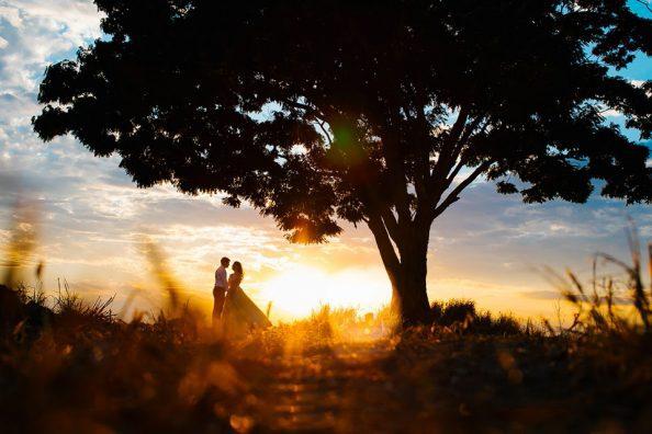 foto de casamento no por do sol fotografo de casamento em são paulo